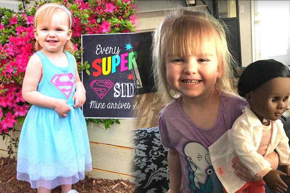 Sophia Banner (2) liebt ihre neue Doktorpuppe (rechts) über alles.