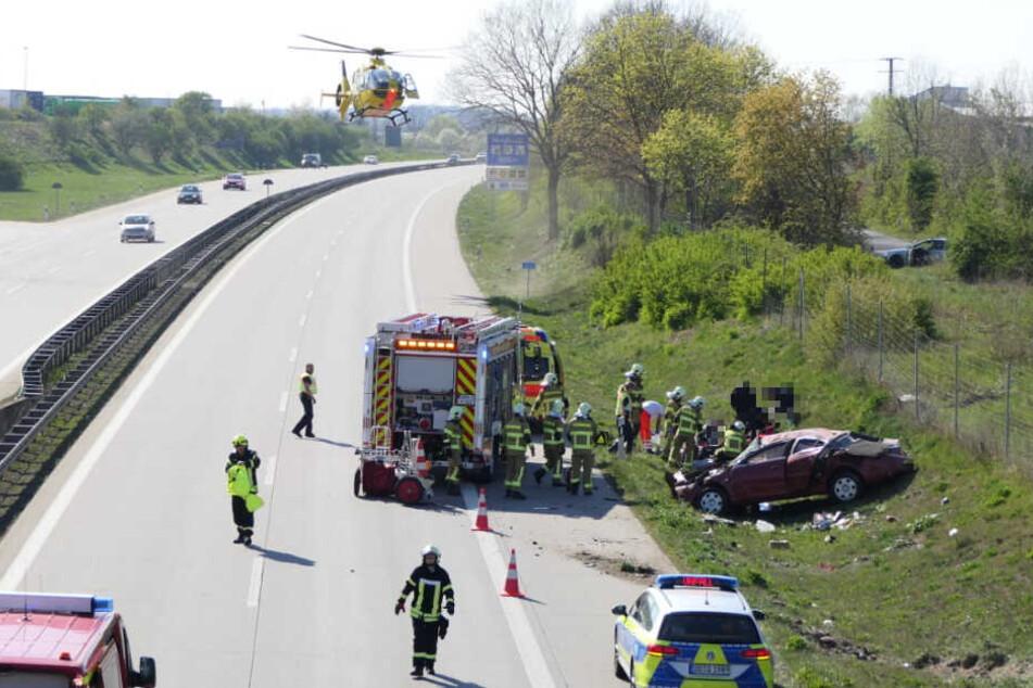 Wegen eines schweren Unfalls musste die A14 am Freitagnachmittag vollgesperrt werden.