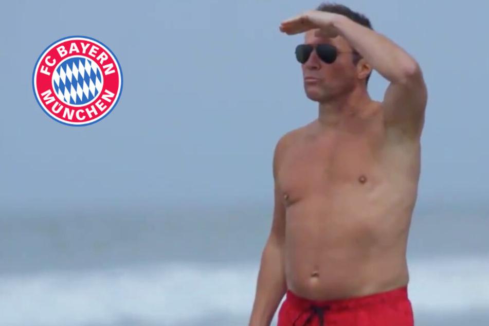Baywatch in der Bayern-Edition! Clip mit Lothar Matthäus ist einfach grandios