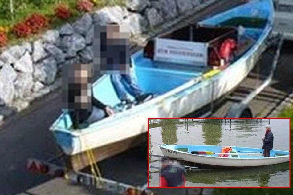 Dieses Ruderboot wurde gestohlen.