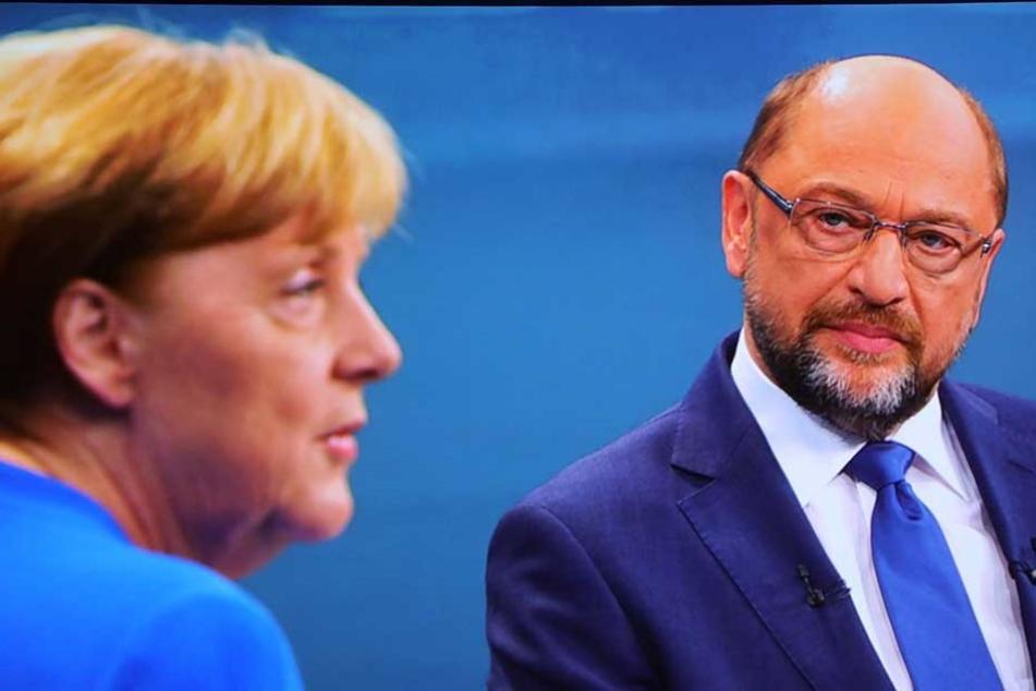 Angela Merkel und Martin Schulz beim TV-Duell vor der Bundestagswahl.