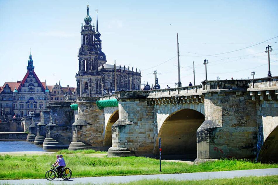 Die Augustusbrücke soll für 23 Millionen saniert werden.