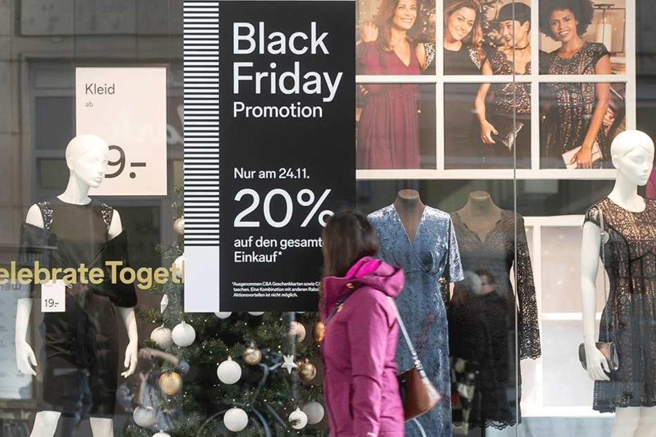"""Der Shoppingtag """"Black Friday"""" hat sich auch in Dresden bewährt."""