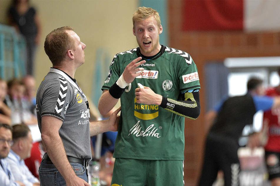Auch im Derby zählt GWD-Trainer Frank Carstens auf seinen Rückraumspieler Christoffer Rambo.