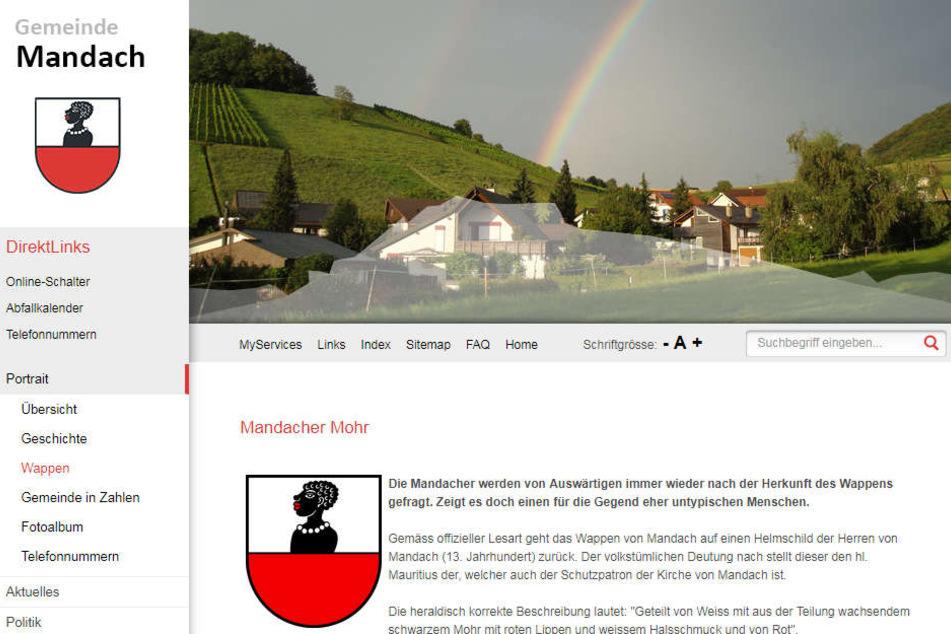 Die Homepage der Gemeinde Mandach erklärt das Wappen.