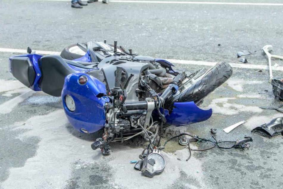 Für den Fahrer der Honda kam jede Hilfe zu spät.