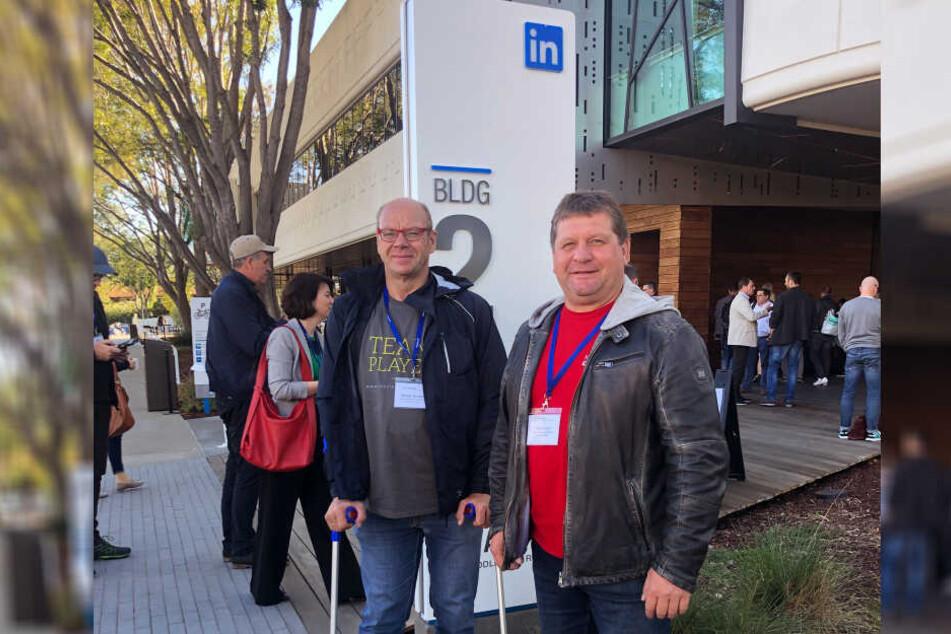 Walter Stuber und Dirk Eckart besuchten auch die Büros von LinkedIn.