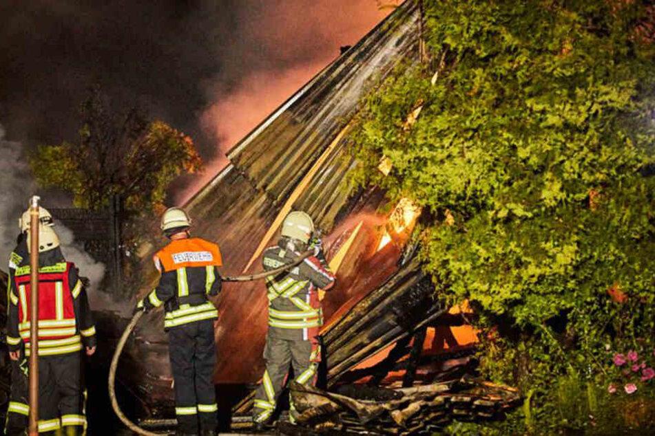 Einsatzkräfte der Feuerwehr konnten den Brand
