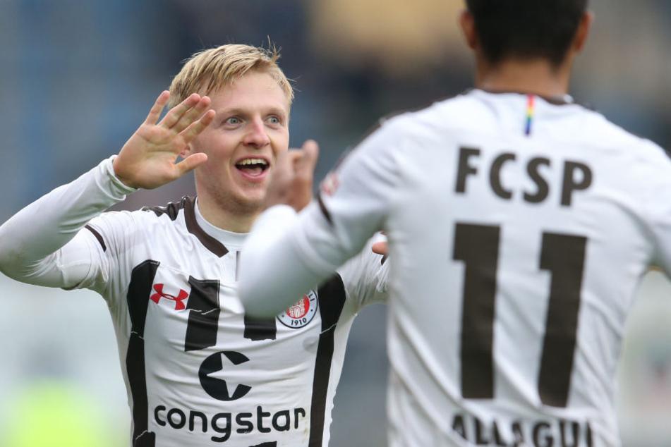 Mats Møller Dæhli schoss den FC St. Pauli in Führung.