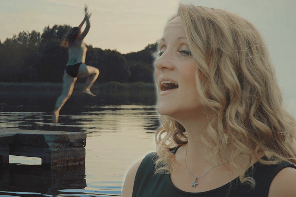 Nackter Sprung in die Elbe: Für die Musik gibt sie ihr letztes Hemd