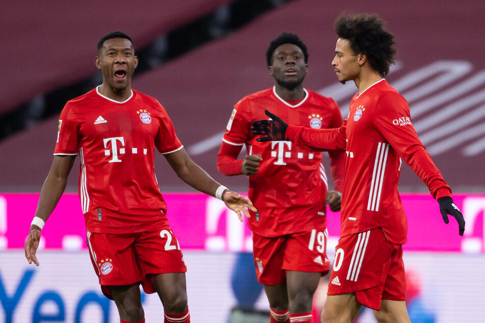 Leroy Sané (r.) traf für den FC Bayern München am 14. Spieltag der Bundesliga gegen den Außenseiter 1. FSV Mainz 05, der munter mitspielte.