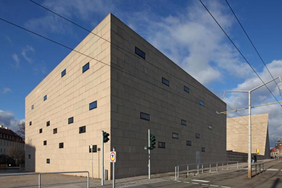 Die Neue Synagoge in Dresden.