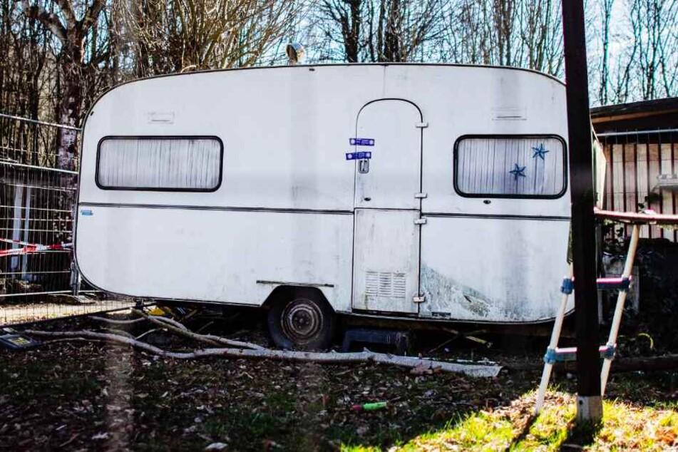 Auch ein Wohnwagen auf dem Campingplatz in Lügde wurde von der Polizei untersucht.
