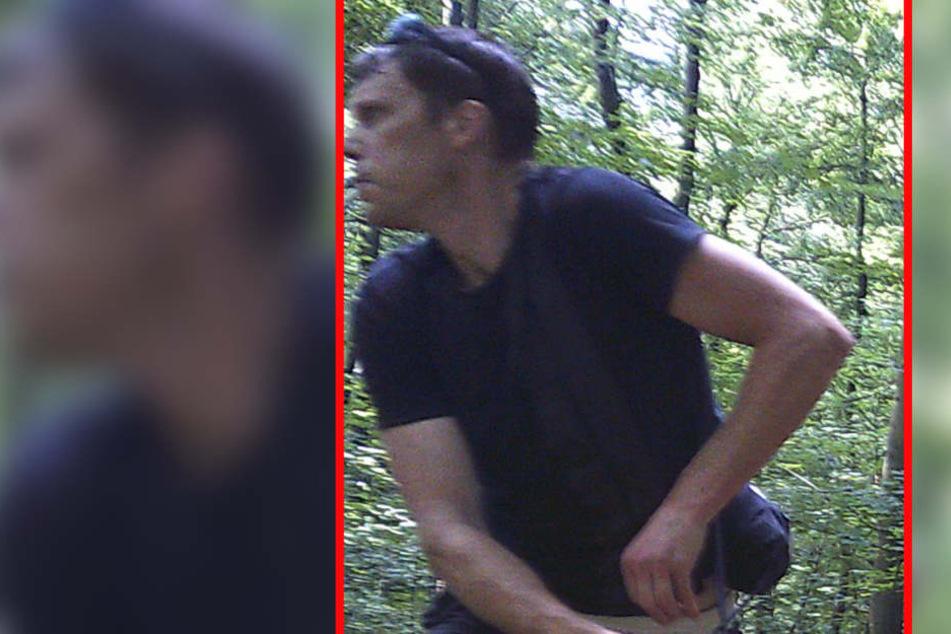 Wer kennt diesen Mann? Er soll im Wald mehrere Wildkameras gestohlen haben