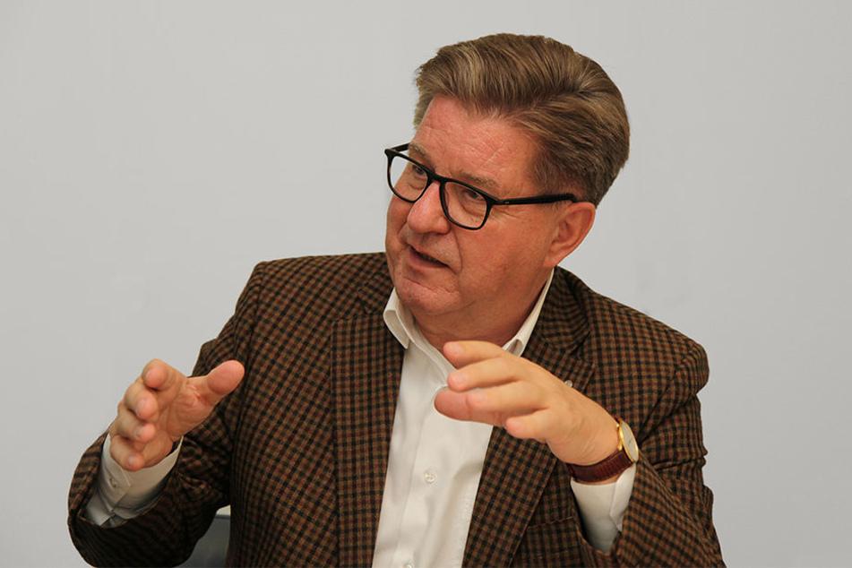 Kurt Geier (68) wird in Zukunft den Vorstand von Lok Leipzig unterstützen.