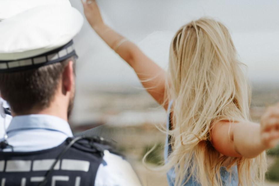 Der Polizist fragte persönliche Daten über die Frau ab. (Symbolbild/ Fotomontage)