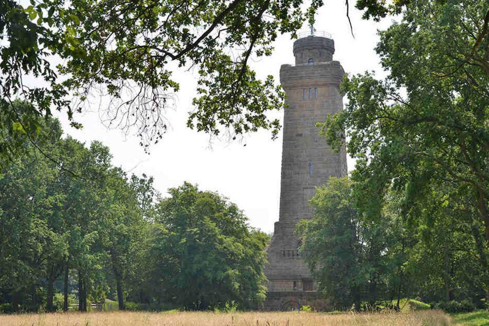 Der Bismarckturm in Glauchau wird einer der zentralen Drehorte für den Horrorstreifen sein.