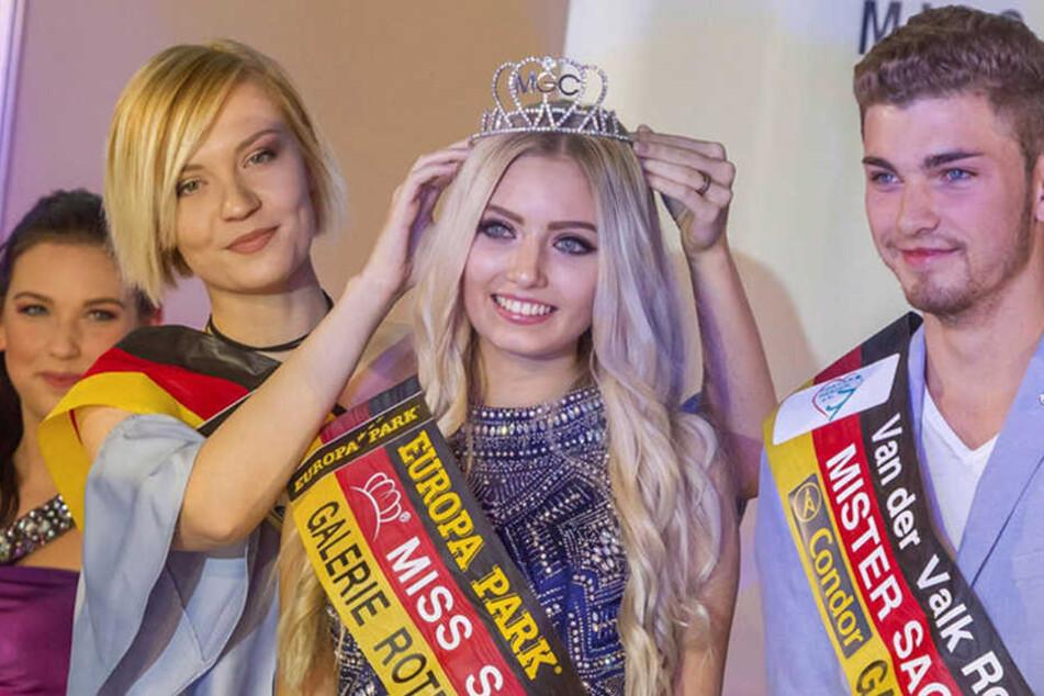 Den Titel der Miss Sachsen musste Soraya, hier bei der Krönung 2016, bereits weitergeben.