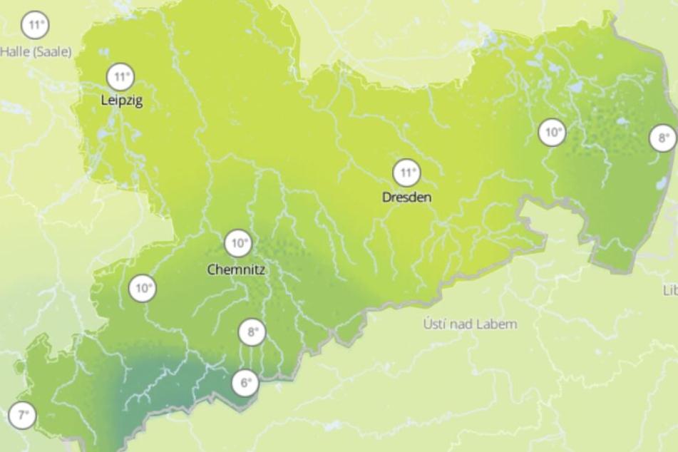 Besonders am Donnerstag werden frühlingshafte Werte über 10 Grad erwartet, allerdings müsst Ihr auch mit Regen rechnen.