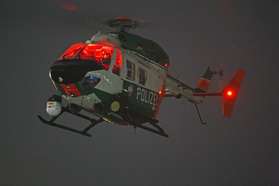 Ein Helikopter der Polizei. (Symbolbild)