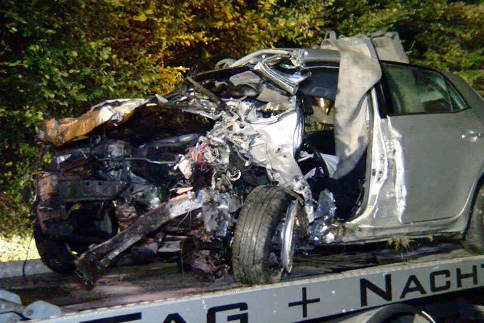 In diesem Auto kam die junge Fußballerin zu Tode.
