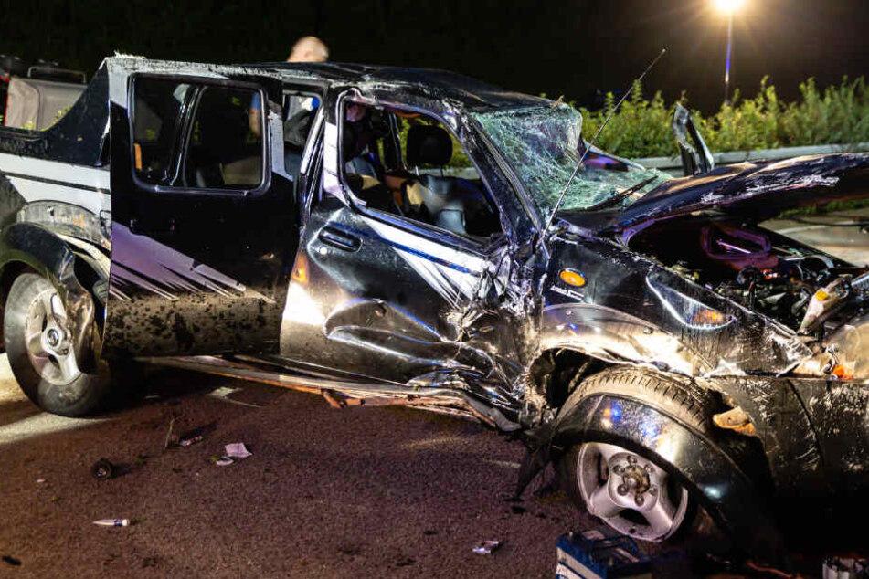 Das Foto zeigt eines der an dem Unfall auf der A3 beteiligten Autos.