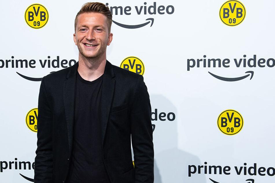"""Freut sich auf die kommende Saison: Marco Reus, hier bei der Premiere der Amazon-Doku """"Inside Borussia Dortmund""""."""