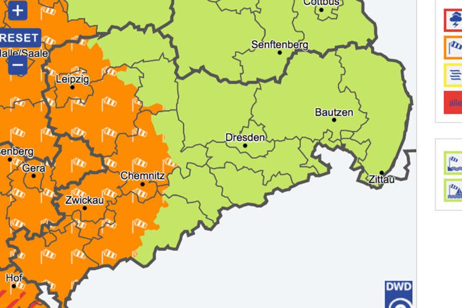 Vor allem in Westsachsen wird es am Sonntag stürmisch.