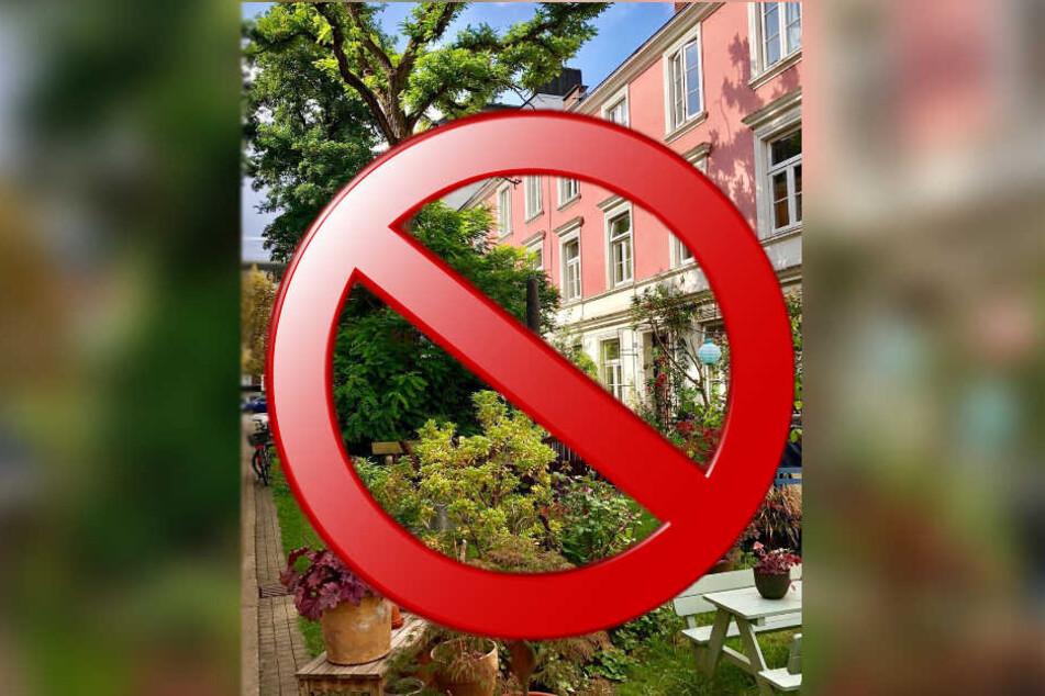 Anwohner und Besucher fragen sich: Müssen die Nachbarschaftsgärten im Falkenried jetzt gänzlich weichen?