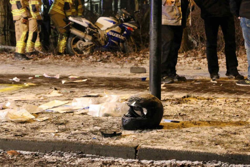 Bei einem schweren Motorradunfall in Nuthetal wurde ein Mann lebensgefährlich verletzt.