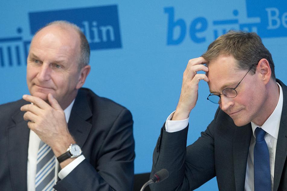 Was werden Woidke (l) und Müller zu hören bekommen?