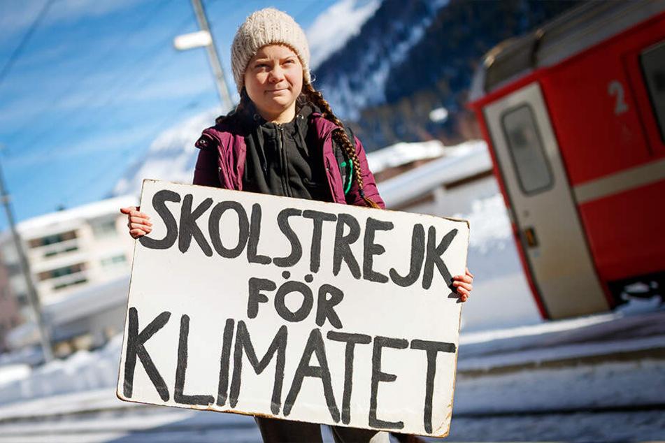 Greta Thunberg (16) wird von Mittwoch bis Freitag am World Economic Forum im schweizerischen Davos teilnehmen.