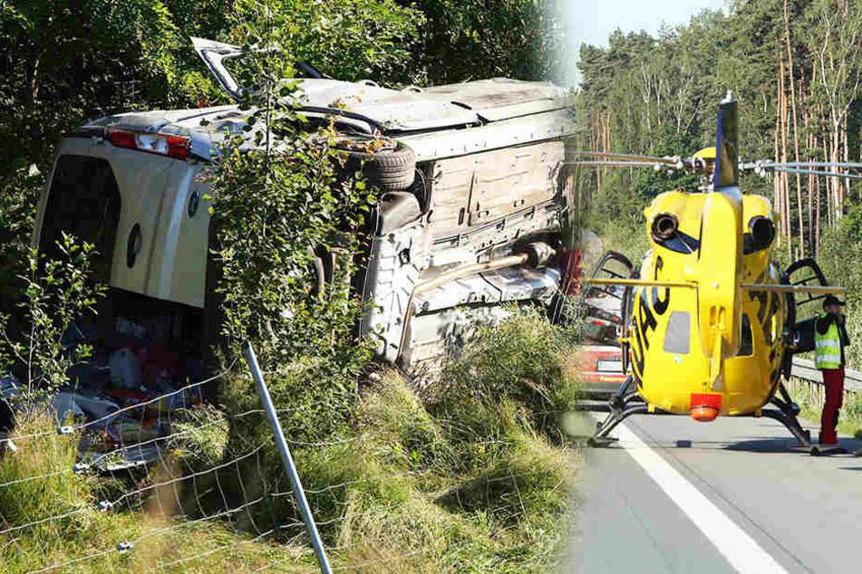 Mann stirbt bei schwerem Transporter-Crash auf der A13