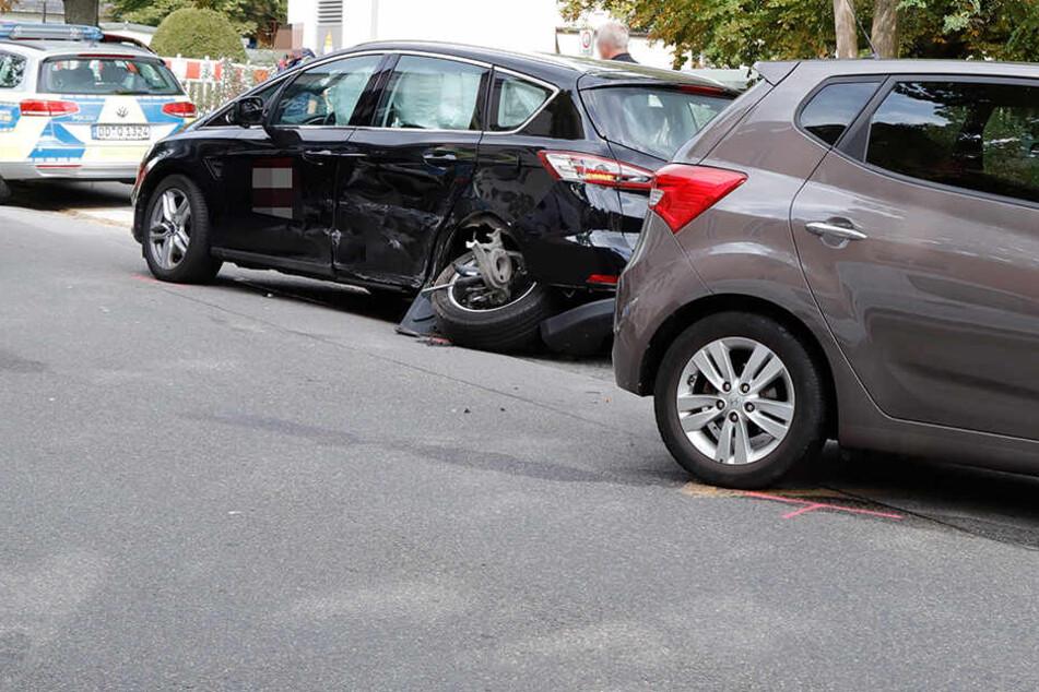 Hyundai und Ford kollidieren: Unfall sorgt für Chaos in Chemnitz
