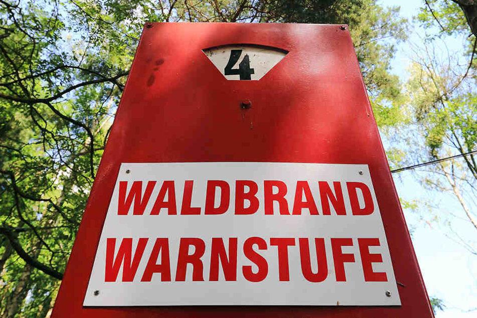 """Waldbrandstufe 4, das bedeutet """"Hohe Gefahr"""", für Thüringens Wälder."""