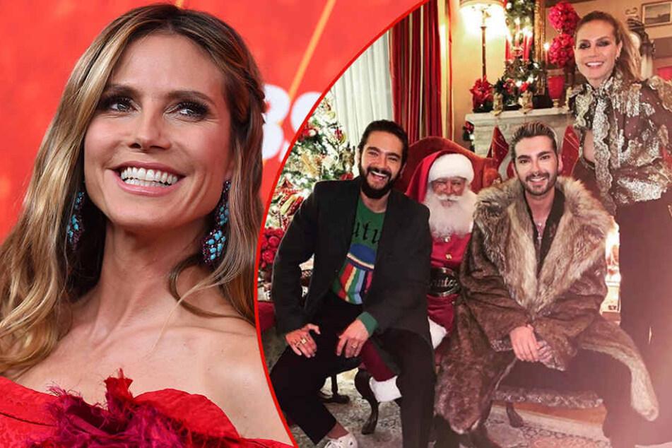 Weihnachten bei Heidi Klum: Dieser Busenblitzer lässt Tom Kaulitz strahlen