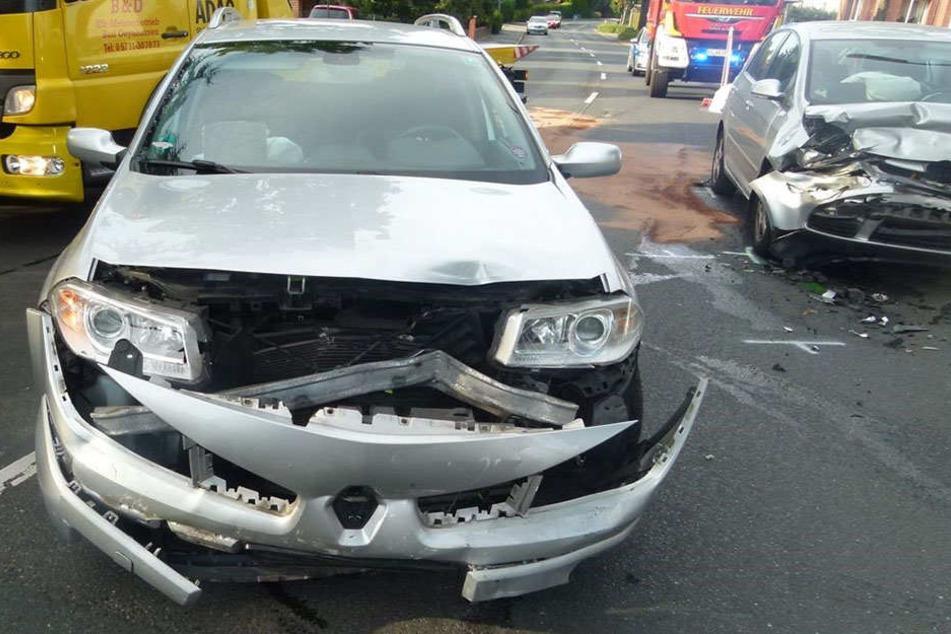 Eine 77-Jährige raste am Sonntag frontal in das Auto eines 63-jährigen Münsteraners.