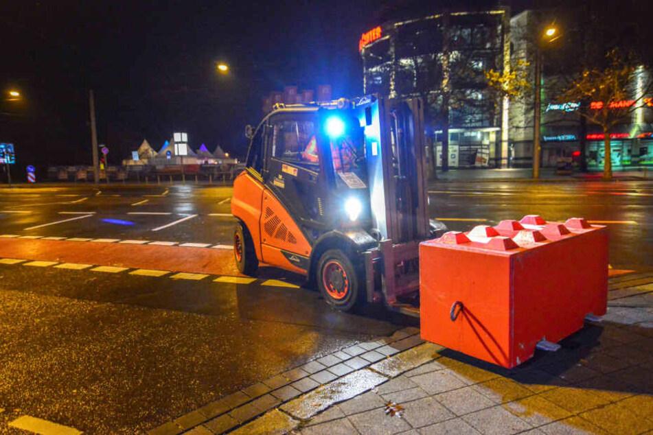 Nacht- und Nebelaktion: Terrorsperren für Magdeburger Weihnachtsmarkt aufgebaut
