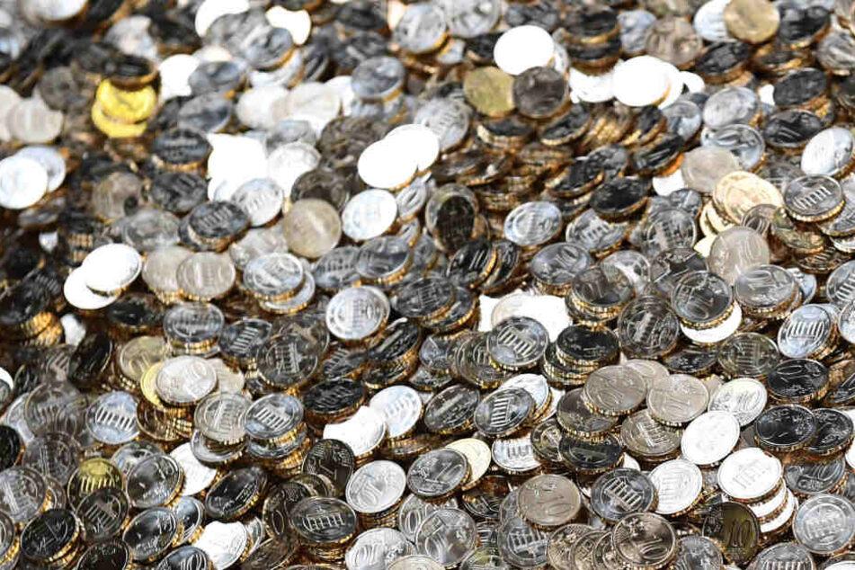 Die Münzen haben ein Gewicht von rund 40 Kilogram. (Symbolbild)