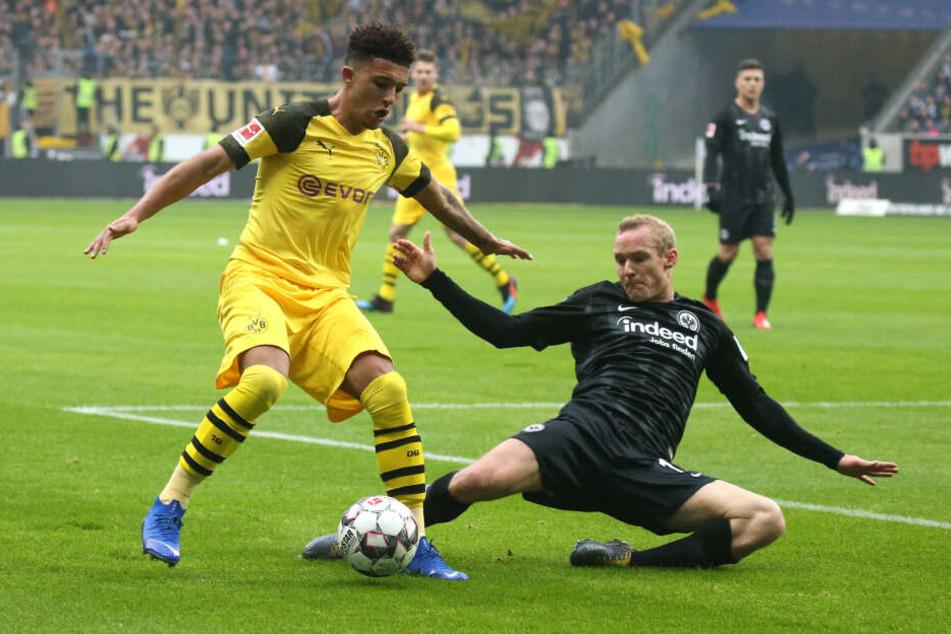 Sebastian Rode (re.) machte gegen seinen Ex-Klub Borussia Dortmund eine starke Partie.