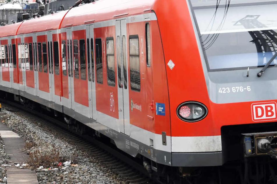 Unbekannte haben eine fahrende S-Bahn mit Steinen beworfen. (Symbolbild)