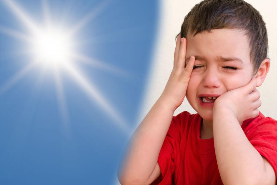 Das Kind war nach seiner Befreiung dehydriert und litt unter Kreislaufschwäche. (Fotomontage/Symbolbild)