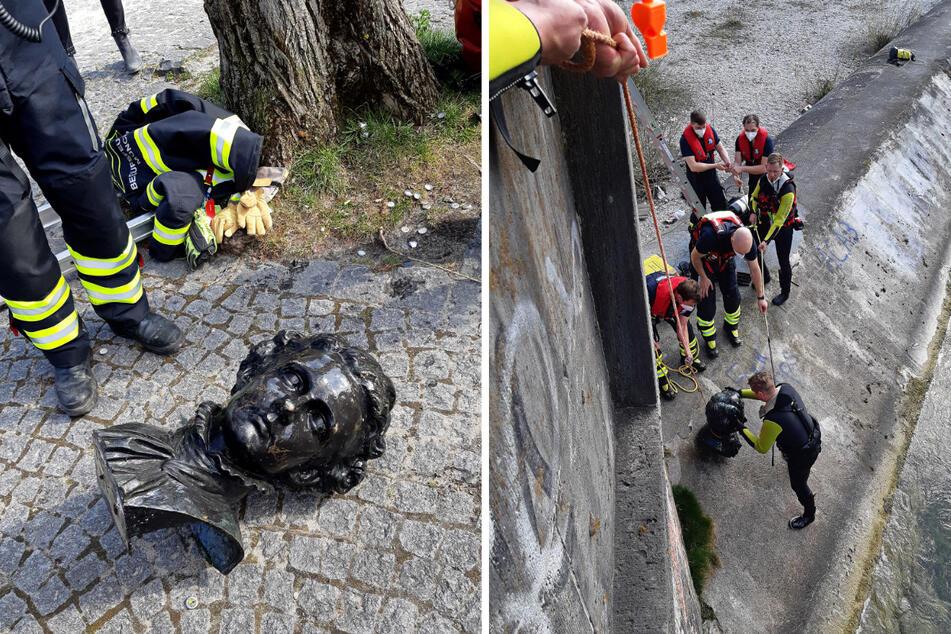 """München: """"Kini"""" schwimmt in der Isar: Feuerwehr muss in München zur Rettungsaktion ausrücken"""