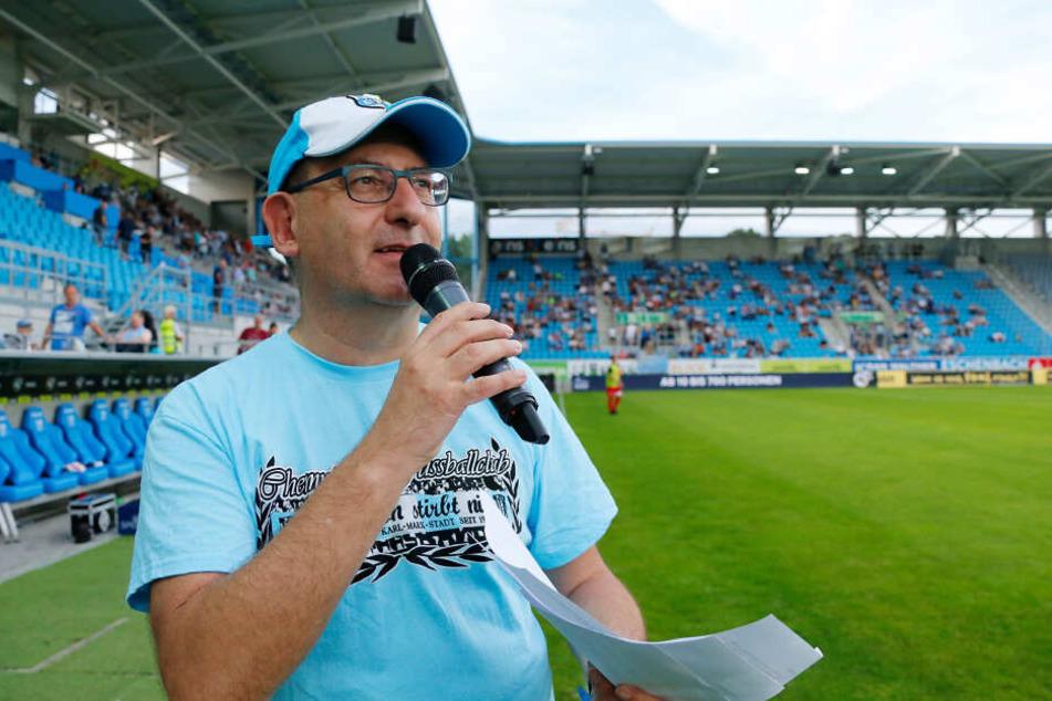 Olaf Kadner war langjähriger Stadionsprecher beim CFC.