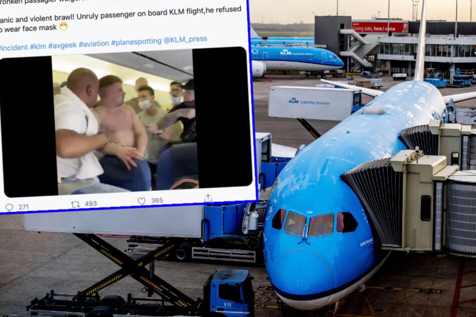 Video: Maskenverweigerer verursachen blutige Schlägerei in Ferienflieger