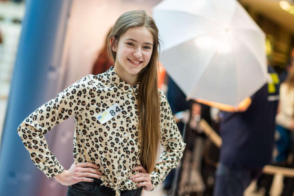 Joelina Sahling (12) möchte als Tänzerin und Kindermodel groß rauskommen.