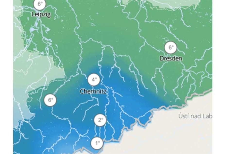 In der Nacht zum Samstag nähern sich die Temperaturen im Erzgebirge dem Gefrierpunkt.