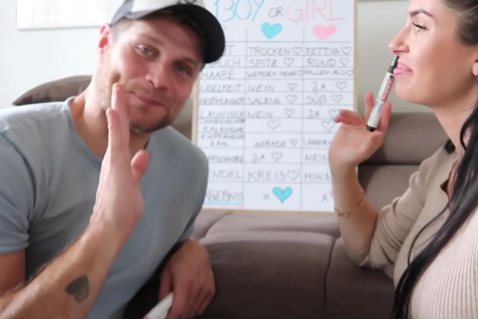 Mimi (37) und Bella Kraus (30) rätseln, ob sie ein Junge oder ein Mädchen bekommen.