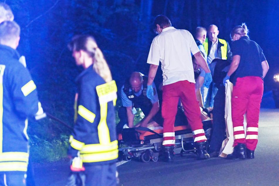 Mehrere Polizisten mussten den Autofahrer bändigen.