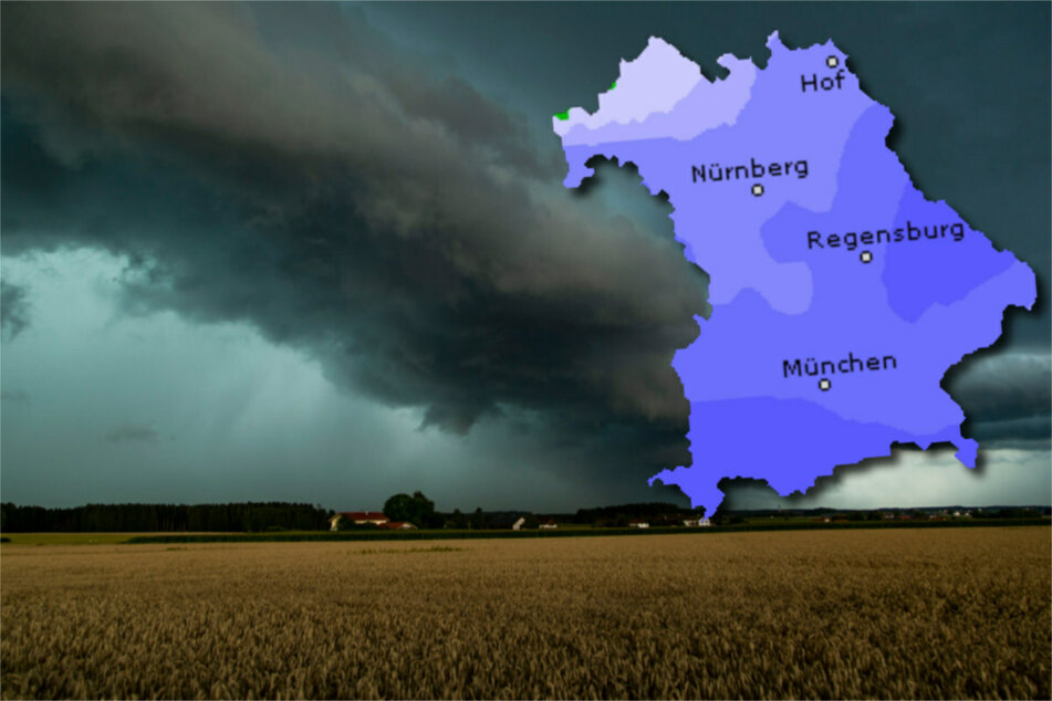 Im Freistaat müssen sich die Bürger lokal auf Gewitter und starkem Regen einstellen.